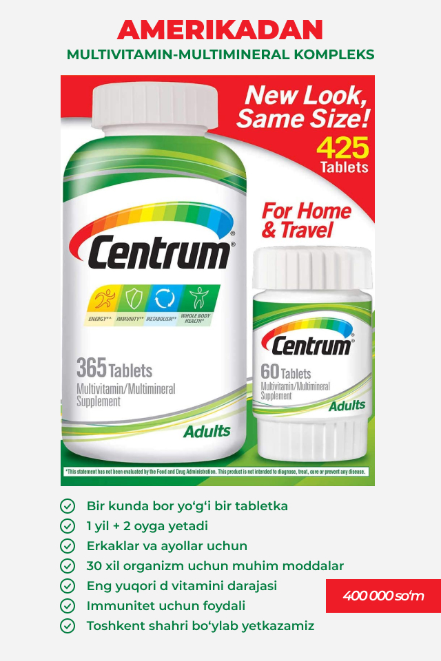 centrum multivitamin multimineral kompleks